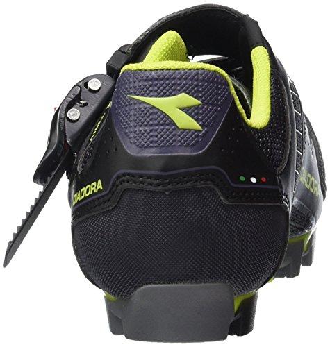 Diadora X Trivex Plus Ii, Chaussures de Vtt Mixte Adulte Schwarz (black/lime punch5808)