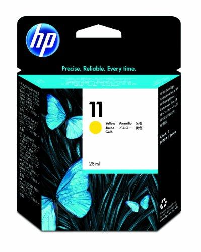 HP 11 Cartouche d'encre d'Origine 1 x Jaune 2550 pages