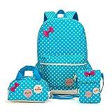 Bcony Conjunto de 3 Dot lindo Las mochilas escolares universidad/bolsas escolares/mochila niños...