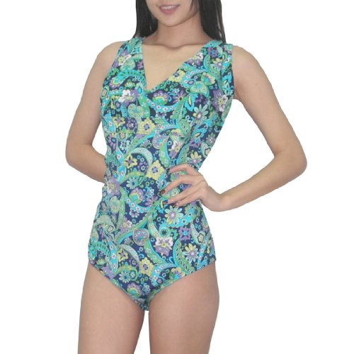 one-piece-bademode-old-navy-femmes-glatte-dri-fit-surf-maillot-2x-multicolor