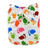 Alva Baby nuovo Design riutilizzabile per pannolini in tessuto lavabile per pannolini, 2 inserti