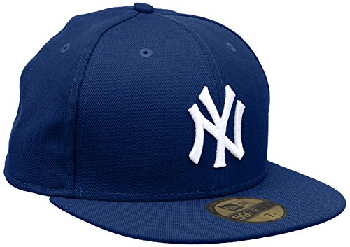 New Era Men's MLB Basic NY Yankees 59Fifty Fitted Baseball Cap, Blue (Royal),  Size: 7 3/8 Inch - 58.7CM