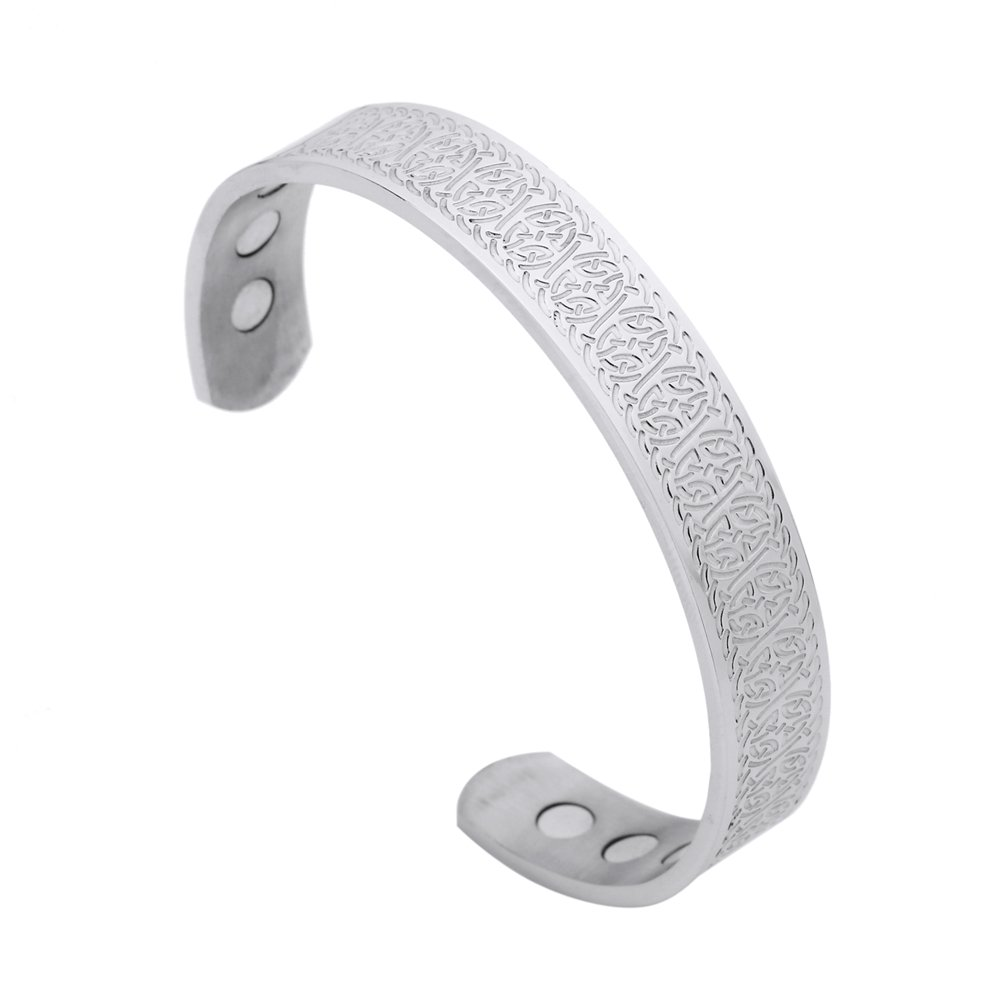 fishhook Celtic Knot Eternal Love Knot Symbol Stainless Steel Care Magnetic Bangle Bracelet