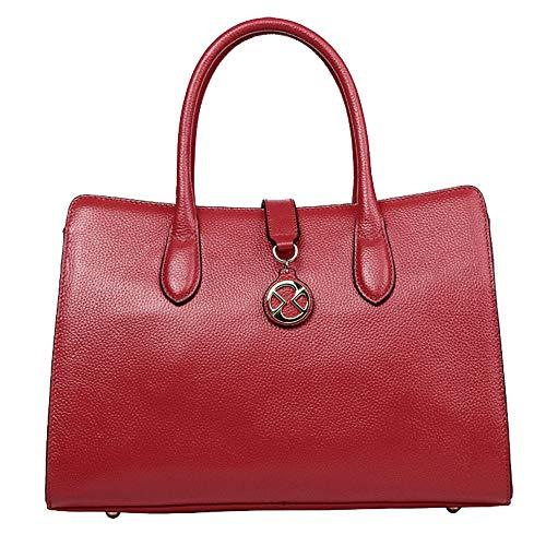 Kieuyhqk Frauen große Kapazität Taschen Pendler Tote Bag Fashion Schulter Crossbody Handtasche Frauen Casual Handtasche Schulter-Handtasche (Farbe : Rot)