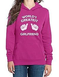 Worldu0027s Greatest Girlfriend Damen Kapuzenpullover Hoodie   Valentinstag /  Geschenk Freundin