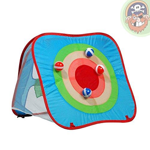 Wurfspiel für Kinder mit Zielscheibe und Bällen - Spielzelt für Garten oder Wohnung von Gartenpirat®