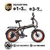 RICH BIT RT-012 E-Bike Vélo électrique 26'' 4.0 gras Pneu Neige Bike Vélo électrique Ebike 1000W 48V 17Ah li-Batterie 21 vitesses Shimano Frein à disque Compteur de vitesse