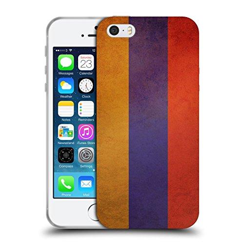 Head Case Designs Arménie Arménien Drapeaux D'époque 4 Étui Coque en Gel molle pour Apple iPhone 5 / 5s Arménie Arménien