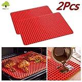RYC Pyramid Pan Silikon-Backmatte / Backofen-Backblech, pyramidenförmige Mulden, nicht haftend, für fettreduziertes Kochen/