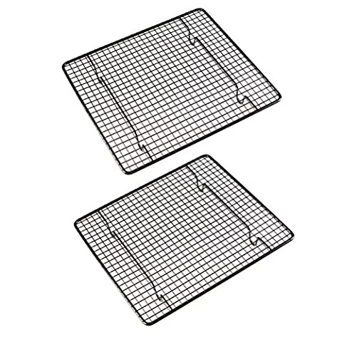 AmgteEu Set of 2 Cross Wire Grid Nonstick Cooling Rack ~ Oven Safe, 10 Inch x 9 Inch