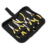 Set di Strumenti per La Creazione di Gioielli, Kit di Pinze Professionali per Gioielli 5Pcs Pinze per Naso Piatto Piegate per Fai da Te