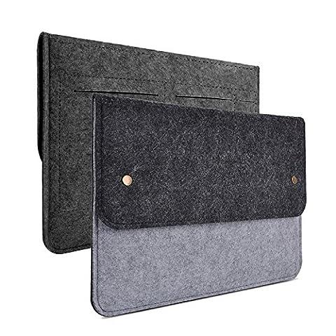 witery 33,8cm feutre élégant slim Coque Housse de transport/protection d'écran Sac Enveloppe pour Samsung 12.9iPad Pro/33cm/Apple MacBook Pro avec écran Retina/MacBook Air, la plupart des 28Ultrabook Netbook