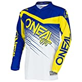 O'Neal Element Racewear MX Motocross Jersey Shirt Enduro Offroad Motorrad Quad Cross Erwachsene, 0008, Farbe Blau Gelb, Größe M