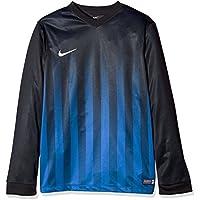 Nike Ls Yth Striped Division II Jsy Camiseta, Niños, Negro / Azul / Blanco (Black / Royal Blue / White), M