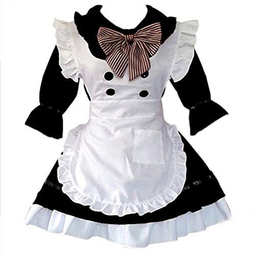 Anime Cosplay party Costumes Cute School Uniform Women's Lolita Dress French Maid Costumes ( black, Size L (Girl Kostüme Cute Anime)