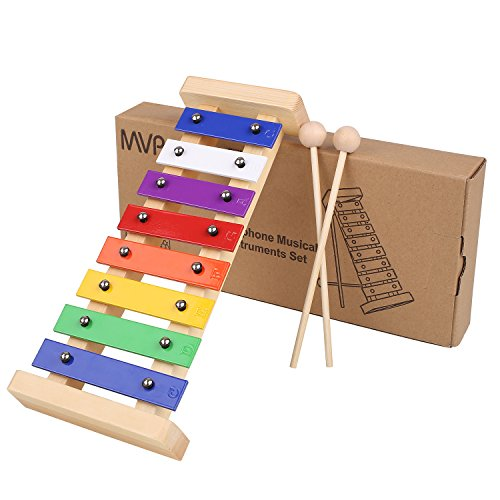 MVPower Xylophon Holzspielzeug Musikinstrument für Kinder Glockenspiel Pädagogische Entwicklung Spielzeug Geschenke für Babys(Xylophon)