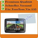2 x Displayschutzfolie von 4ProTec für TomTom Via 135 CRYSTALCLEAR Bildschirmschutzfolie Schutzhülle Displayschutz Displayfolie Folie