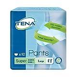 Tena Pants Super, groß (L) Schutzhosen für starke Blasenschwäche / Inkontinenz, 12 Stück
