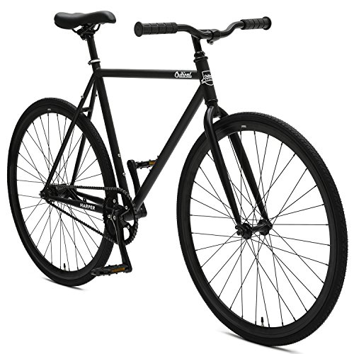 Critical Cycles Harper Coaster Fixie Style Commuter with Foot Brake Single Speed Bike, Matte Black, 57cm