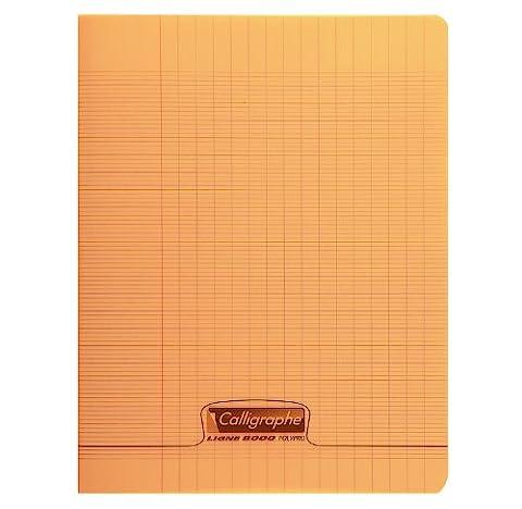 CALLIGRAPHE Lot de 3 Cahiers piqué POLYPRO 24x32 cm 96p séyès 90g Orange