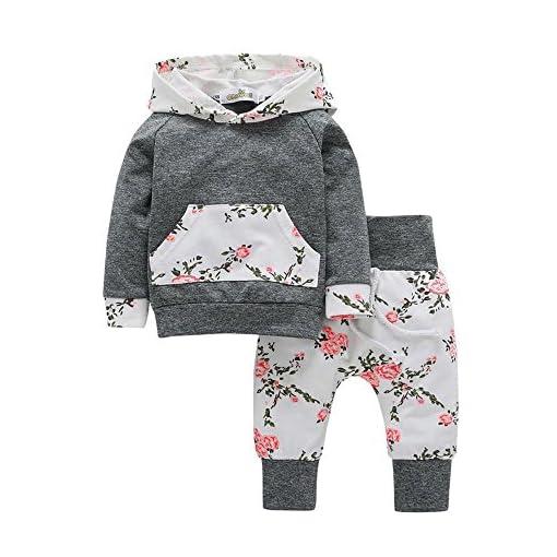 Summer Newborn Baby Girl Clothes Floral Romper Bodysuit Jumpsuit Outfit 2PCS Set