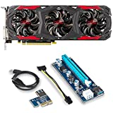 PowerColor AXRX 570 Bundle 2 Items: 4GBD5-3DH/OC Video Card and Riser for Crypto Coin ETH Ethereum Zcash ZEC Bitcoin