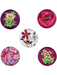 Morella señorías Click-Button Set 5 pcs pulsadores Love, Bird y plantas