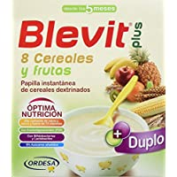Blevit Plus Duplo 8 Cereales y Frutas - Paquete de 2 x 300 gr - Total: 600 gr