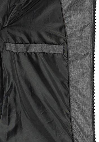 BlendShe Nelly Damen Steppmantel Wintermantel Winterjacke Mit Gefütterter Kapuze, Größe:XS, Farbe:Dark Grey Melange (20044) - 6