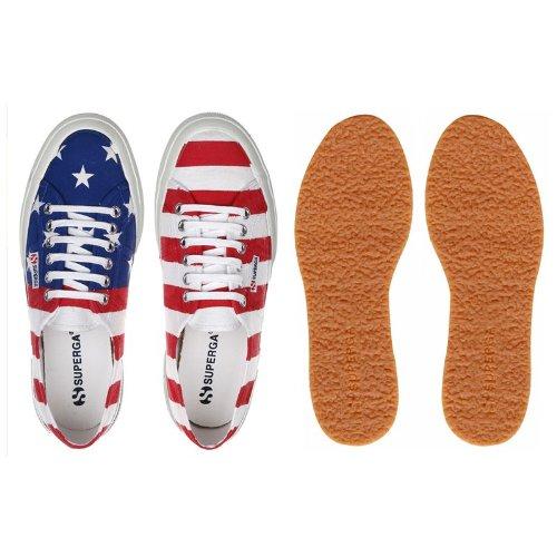 Superga Usa Flag Baskets Basses Neuf Chaussures .