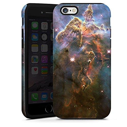 Apple iPhone 4 Housse Étui Silicone Coque Protection Montagne mystique Galaxie Espace Cas Tough terne