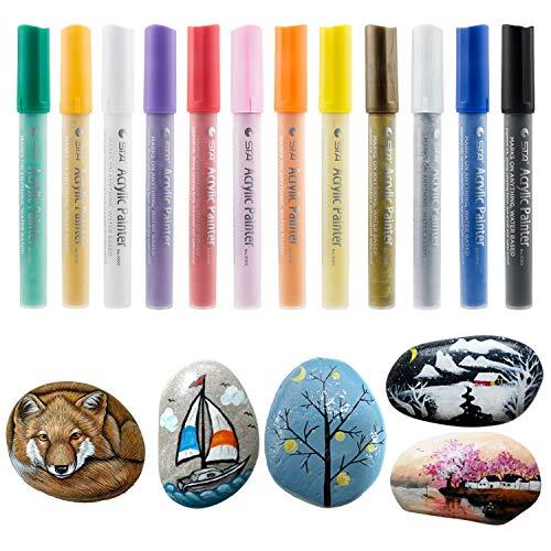 Marker Pen, Comius 12 Colores Rotuladores Pintura