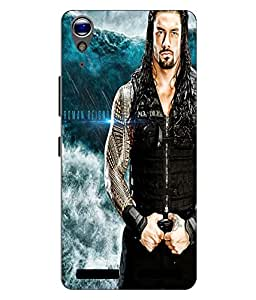 Make My Print Roman Reigns Printed Blue Hard Back Cover For Lenovo A6000