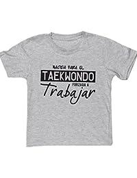 0701d63e3aace HippoWarehouse NACIDA PARA EL TAEKWONDO FORZADA A TRABAJAR camiseta manga  corta niños niñas unisex