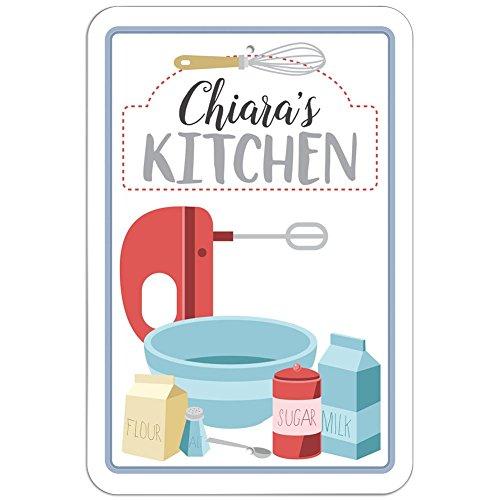Chiara 's Kitchen Schild, plastik, weiß, 6
