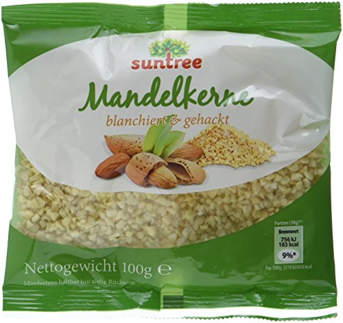 Suntree Mandeln blanch., gehackt, 100 g