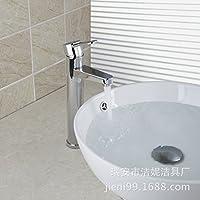 Il rame al di sopra del bacino del contatore del contenitore in vetro bacino-wide a caldo e a freddo rubinetto