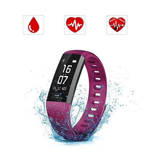 SAVFY Montre Connectée Cardio Bracelet Connecté Sport Fitness Tracker Activité Étanche IP67...