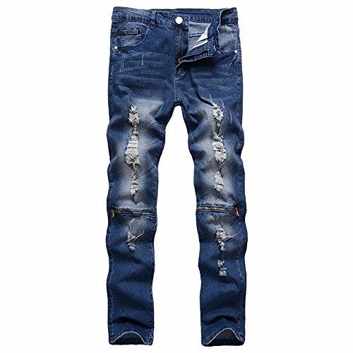 Cebbay Pantalones de Hombre Pantalones Pantalones Casuales Jeans Ciclismo Cálido en otoño e Invierno Liquidación (Azul, EU Size 35=Tag 36)