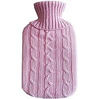 Preisvergleich für Wärmflasche,Wärmflaschen 2 Liter mit Super Weichem Plüsch-Bezug Geprüft und Frei Von Schadstoffen Sicher und Warm...