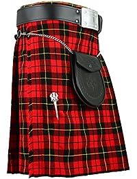 Kilt écossais Tartan traditionnel Wallace toutes tailles