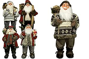 jemidi weihnachtsmann 80cm deko nikolaus santa clause figur gro weihnachts deko holz. Black Bedroom Furniture Sets. Home Design Ideas