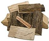 30kg Brennholz Kaminholz 100% Buchenholz Feuerholz 25cm + 20 Stück Anzünder – kammergetrocknet, ofenfertig und einsatzbereit - 3