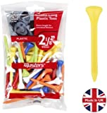 "Masters Golf Plastic Tees 2 1/8"" Mixed Colours 40 Pack"