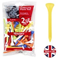 """Masters Golf Plastic Tees 2 1/8"""" Mixed Colours 40 Pack"""