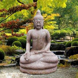Jardín sueño sentado Buda Estatua-Kano