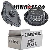 Ford Fiesta MK7 Front Heck - Ground Zero GZIF 6501FX - 16cm Lautsprecher Koax flach - Einbauset