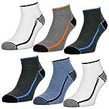 sockenkauf24 6 oder 12 Paar Herren Sport Sneaker Socken mit verstärkter Frotteesohle - 16215