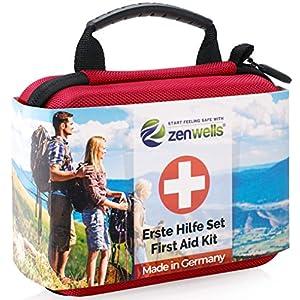 Erste Hilfe Set Outdoor, Fahrrad, Wandern Zubehör für die Erstversorgung der häufigsten Notfälle – First Aid Kit für…