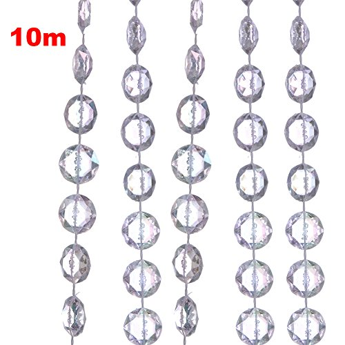 and Diamant Acryl Kristall Perlen Vorhang Hochzeit DIY Party Deko (Diy Perlen-tür-vorhänge)